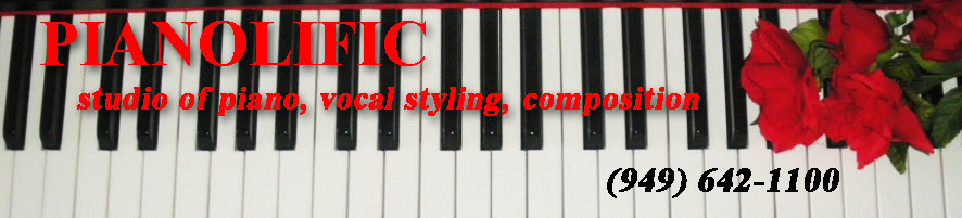 Pianolific studio of piano, vocal styling and composition